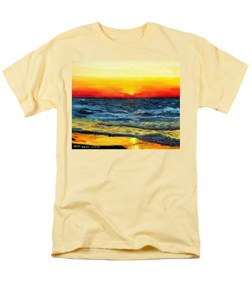 Men's T-Shirt  (Regular Fit) featuring the painting Sunrise Over Paradise by Shana Rowe Jackson