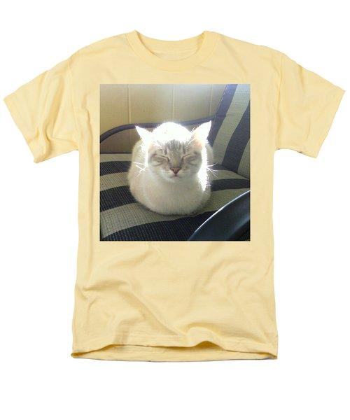 Sunshine Kitty Men's T-Shirt  (Regular Fit) by Deborah Lacoste