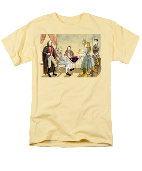 Men's T-Shirt  (Regular Fit) featuring the painting Tammy Meets Betsy Ross And George Washington by Reynold Jay