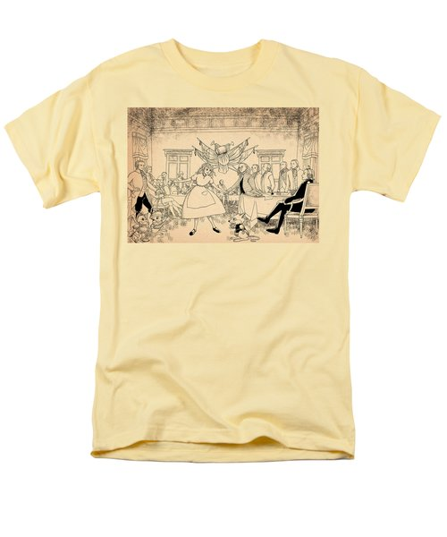 Men's T-Shirt  (Regular Fit) featuring the drawing Tammy In Indpendence Hall by Reynold Jay