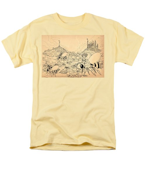 Men's T-Shirt  (Regular Fit) featuring the drawing Flight Over Capira by Reynold Jay