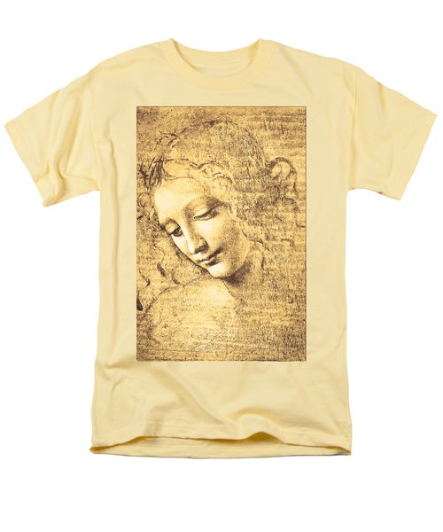 Testa Di Fanciulla Detta La Scapigliata Men's T-Shirt  (Regular Fit) by Leonardo Da Vinci
