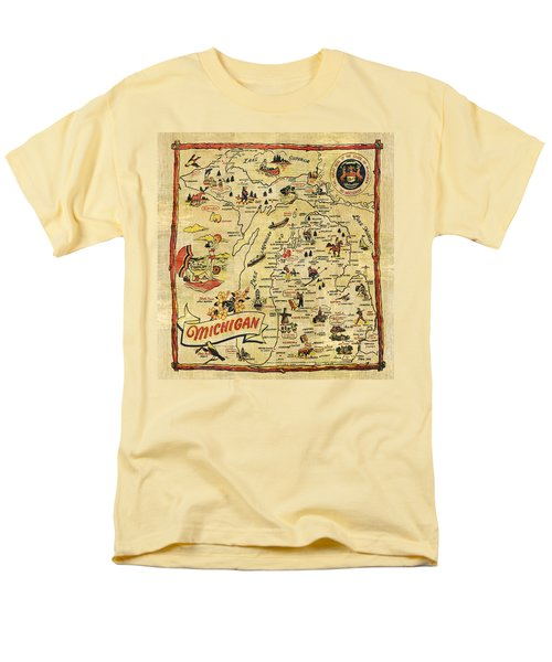 The Great Lakes State Men's T-Shirt  (Regular Fit) by Michelle Calkins