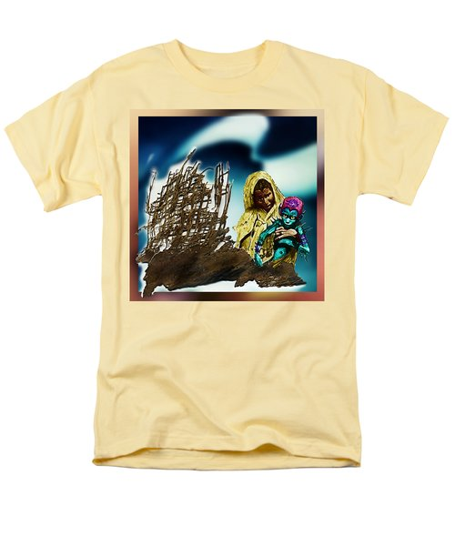 Men's T-Shirt  (Regular Fit) featuring the photograph The Rescued  Alien  Child by Hartmut Jager