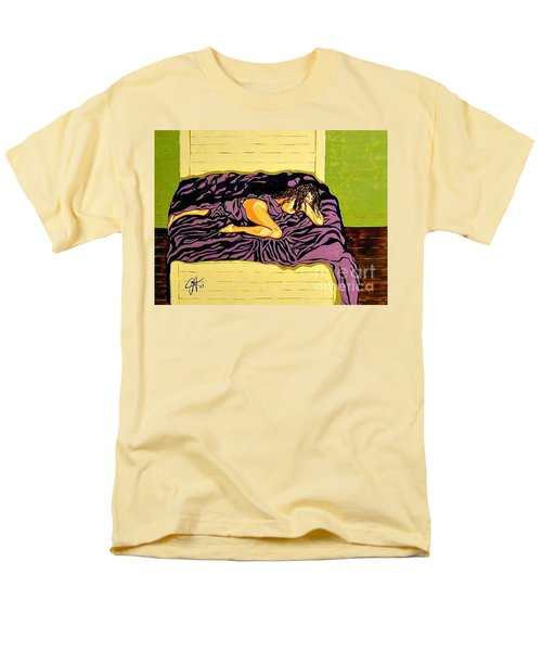 Men's T-Shirt  (Regular Fit) featuring the painting Thoughts Of You by Jackie Carpenter
