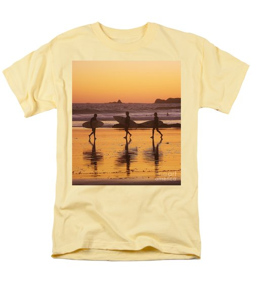 Three Surfers At Sunset Men's T-Shirt  (Regular Fit) by Blair Stuart