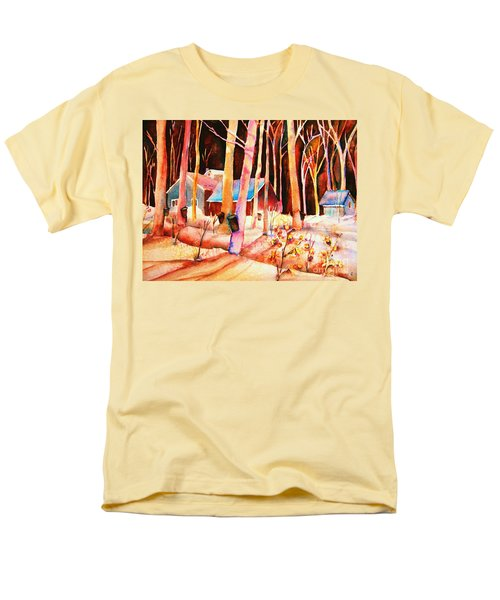 Vermont Maple Syrup Men's T-Shirt  (Regular Fit) by Carole Spandau