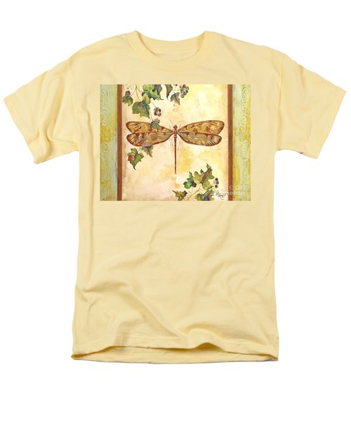 Vineyard Dragonfly Men's T-Shirt  (Regular Fit) by Jean Plout
