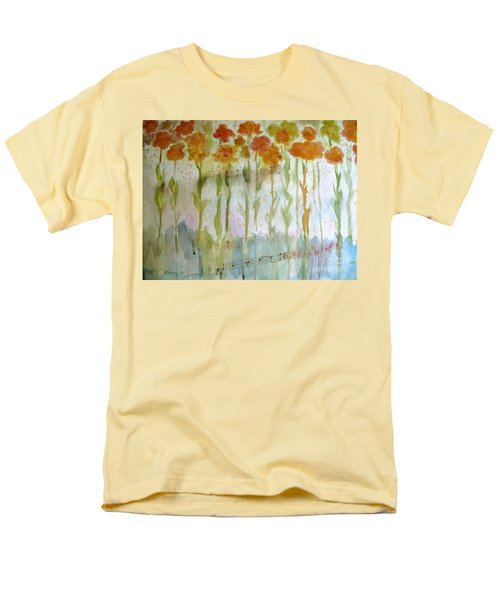 Men's T-Shirt  (Regular Fit) featuring the painting Waltz Of The Flowers by Sandy McIntire