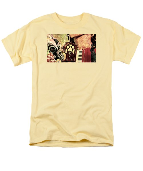 Men's T-Shirt  (Regular Fit) featuring the mixed media War Dreams by Ally  White