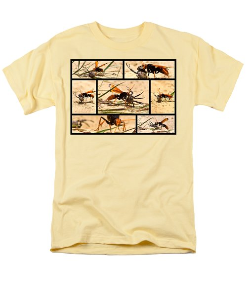 Men's T-Shirt  (Regular Fit) featuring the photograph Wasp And His Kill by Miroslava Jurcik