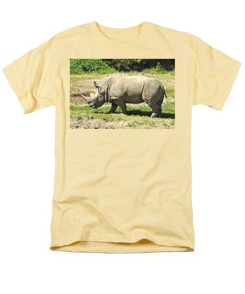 White Rhinoceros Grazing Men's T-Shirt  (Regular Fit) by CML Brown