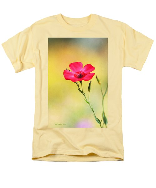 Men's T-Shirt  (Regular Fit) featuring the photograph Wild Red Flower by Tom Janca