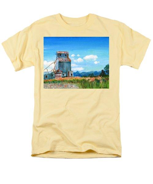 Willow Creek Grain Elevator II Men's T-Shirt  (Regular Fit) by C Sitton
