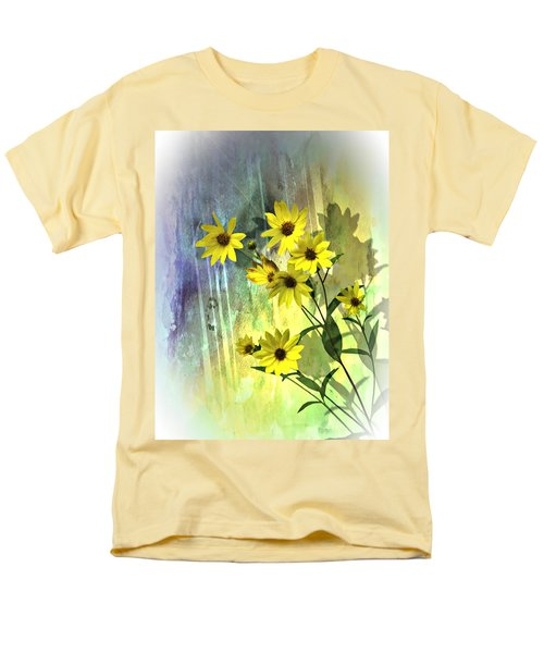 Men's T-Shirt  (Regular Fit) featuring the photograph Yellow Daisies by Judy  Johnson