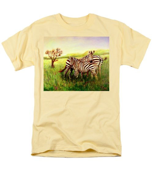 Zebras At Ngorongoro Crater Men's T-Shirt  (Regular Fit) by Sher Nasser