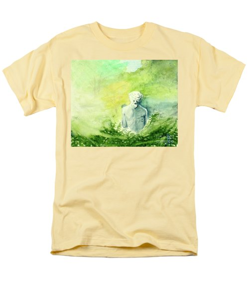 Men's T-Shirt  (Regular Fit) featuring the painting A Statue At The Wellers Carriage House -5 by Yoshiko Mishina