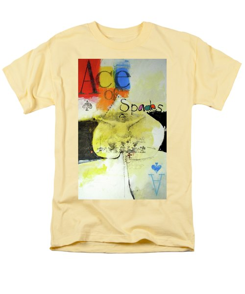 Men's T-Shirt  (Regular Fit) featuring the mixed media Ace Of Spades 25-52 by Cliff Spohn