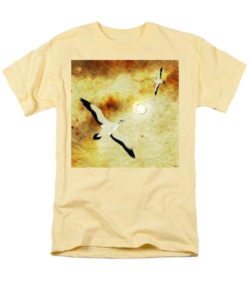 Men's T-Shirt  (Regular Fit) featuring the digital art Birds Of The Sun by Phil Perkins