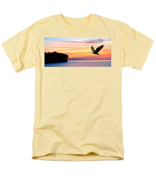 Men's T-Shirt  (Regular Fit) featuring the photograph Eagle Sunrise by Randall Branham