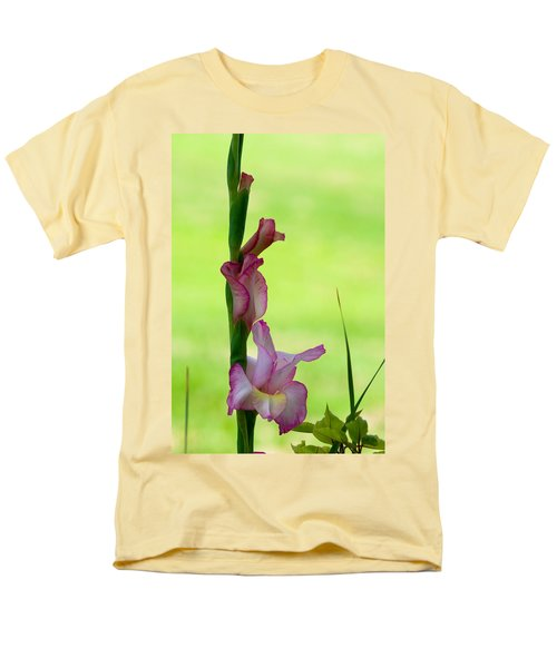Men's T-Shirt  (Regular Fit) featuring the photograph Gladiolus Blossoms by Ed Gleichman