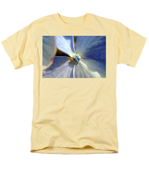 Little Blue Flower Men's T-Shirt  (Regular Fit) by Kay Lovingood