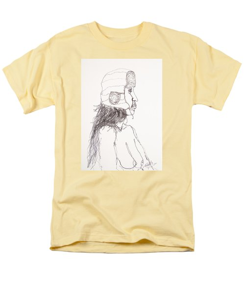 Nude With Hat On Bus Men's T-Shirt  (Regular Fit) by Rand Swift