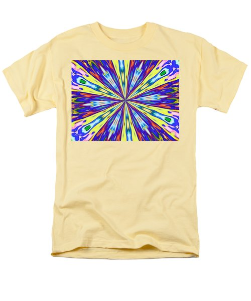 Men's T-Shirt  (Regular Fit) featuring the digital art Rainbow In Space by Alec Drake