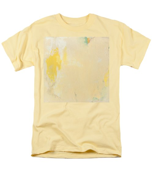 Untitled Abstract - Bisque With Yellow Men's T-Shirt  (Regular Fit) by Kathleen Grace