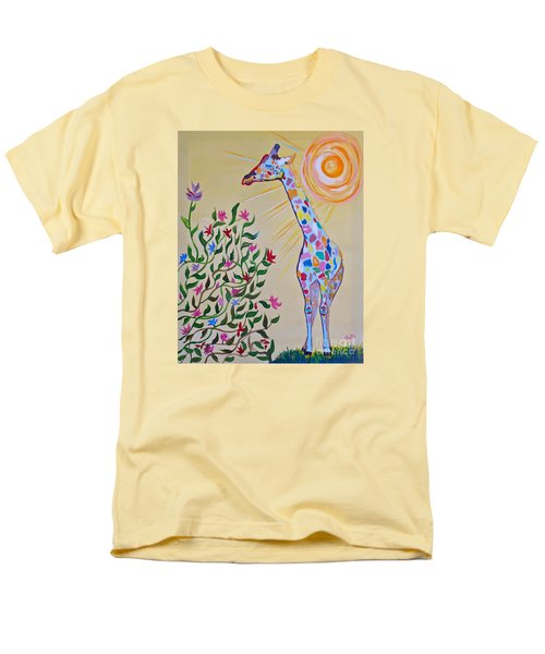 Wild And Crazy Giraffe Men's T-Shirt  (Regular Fit) by Phyllis Kaltenbach