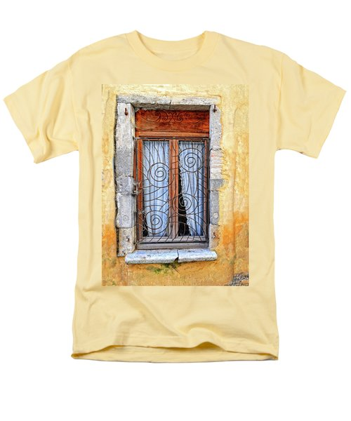 Men's T-Shirt  (Regular Fit) featuring the photograph Window Provence France by Dave Mills