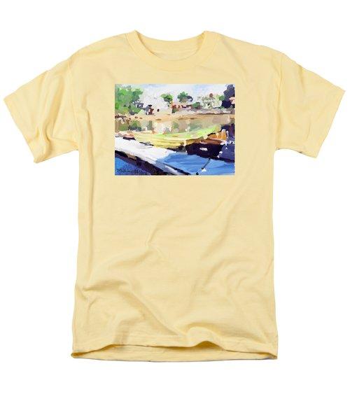 Dories At Beacon Marine Basin Men's T-Shirt  (Regular Fit) by Melissa Abbott