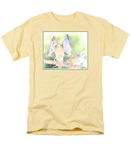 Men's T-Shirt  (Regular Fit) featuring the digital art Mourning Dove Pair  by A Gurmankin