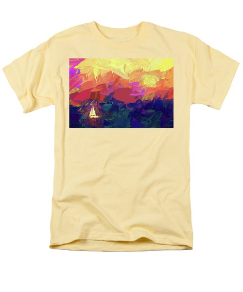 Men's T-Shirt  (Regular Fit) featuring the photograph Sailing by James Bethanis