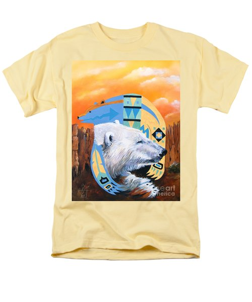 White Bear Goes Southwest Men's T-Shirt  (Regular Fit) by J W Baker