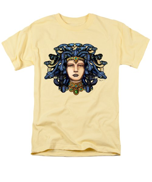 16x20 Medusa 2 Blu Gold Men's T-Shirt  (Regular Fit) by Dia T