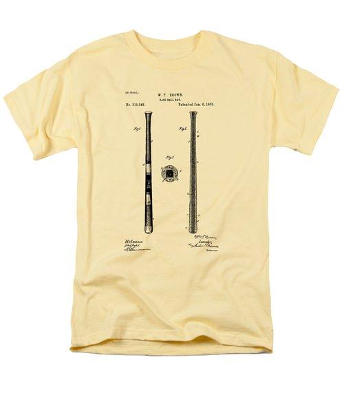 1885 Baseball Bat Patent Artwork - Vintage Men's T-Shirt  (Regular Fit) by Nikki Marie Smith