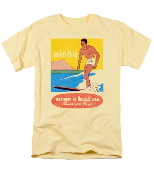 Men's T-Shirt  (Regular Fit) featuring the painting 1950 Aloha Hawaii by Historic Image
