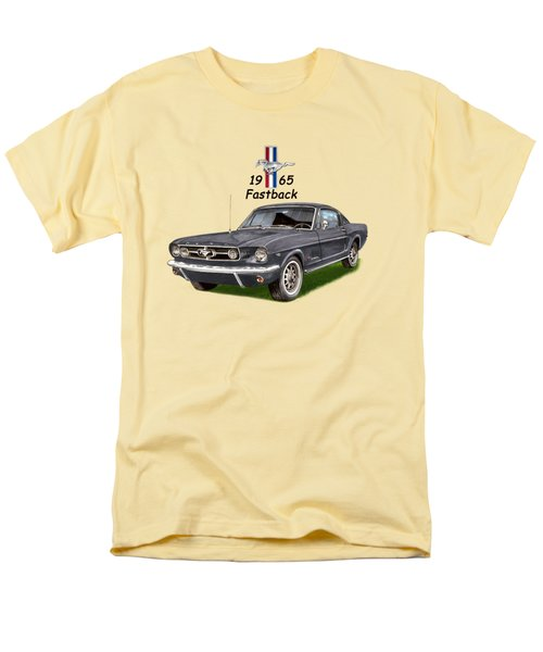 Men's T-Shirt  (Regular Fit) featuring the painting 1965 Mustang Fastback by Jack Pumphrey