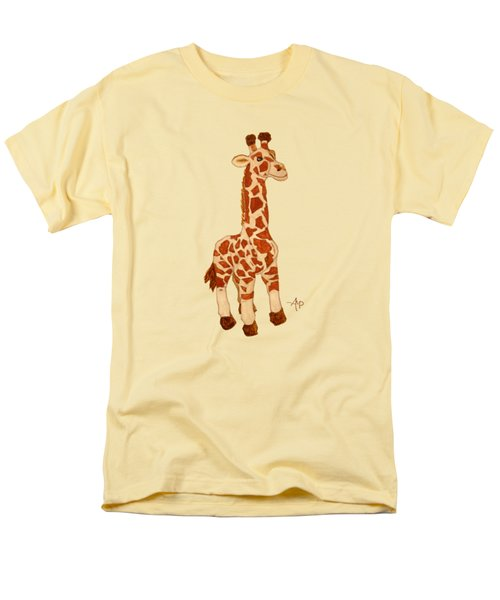 Cuddly Giraffe Men's T-Shirt  (Regular Fit) by Angeles M Pomata