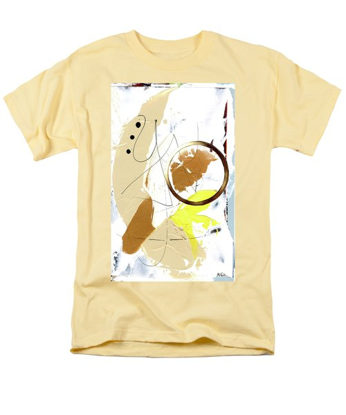 Men's T-Shirt  (Regular Fit) featuring the painting Three Color Palette by Michal Mitak Mahgerefteh