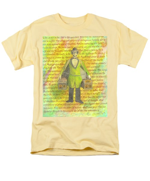 Men's T-Shirt  (Regular Fit) featuring the mixed media 2b Or Not 2b by Desiree Paquette
