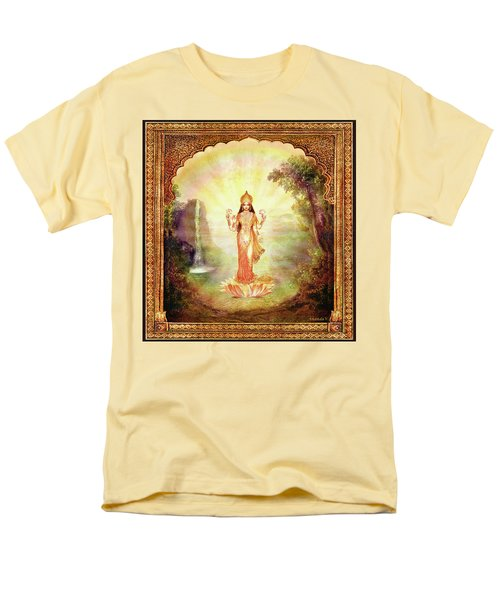 Lakshmi With The Waterfall Men's T-Shirt  (Regular Fit) by Ananda Vdovic