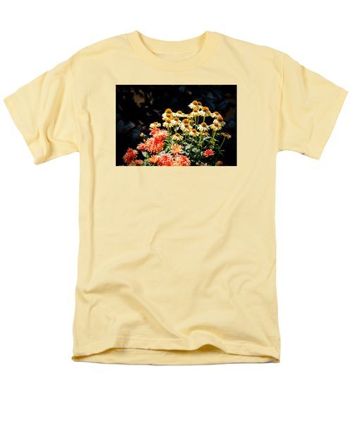 Men's T-Shirt  (Regular Fit) featuring the photograph A Bright Flower Patch by AJ  Schibig