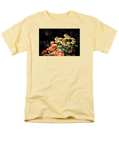 A Bright Flower Patch Men's T-Shirt  (Regular Fit) by AJ  Schibig