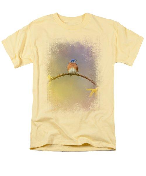 A Little Blue In The Garden Men's T-Shirt  (Regular Fit) by Jai Johnson