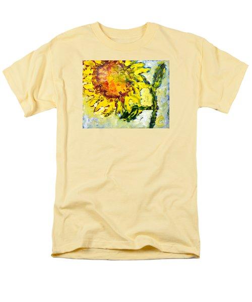 A Sunflower Greeting Men's T-Shirt  (Regular Fit) by Lynda Cookson