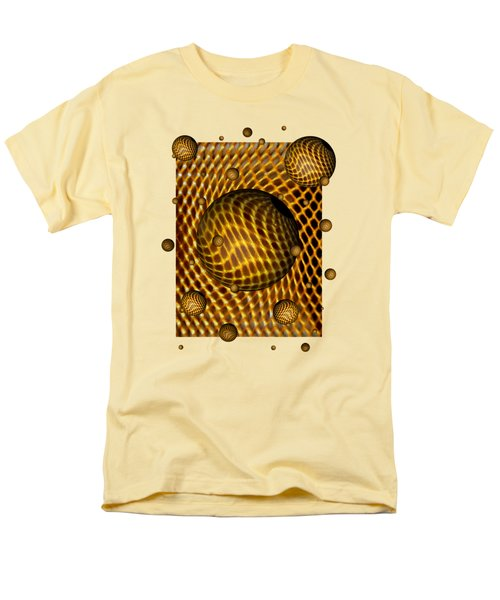 Men's T-Shirt  (Regular Fit) featuring the digital art Abstract - Life Grid by Glenn McCarthy Art and Photography
