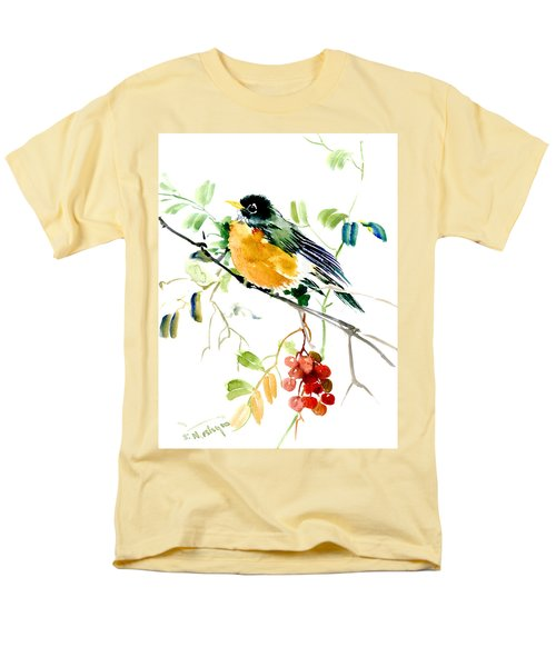 American Robin Men's T-Shirt  (Regular Fit) by Suren Nersisyan