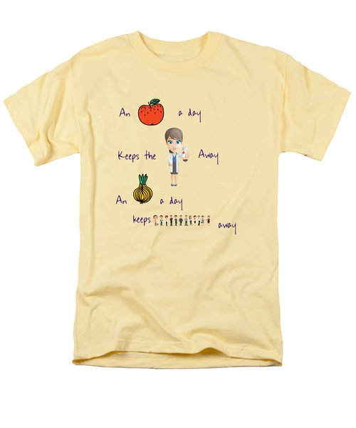 An Apple A Day Men's T-Shirt  (Regular Fit) by Humorous Quotes